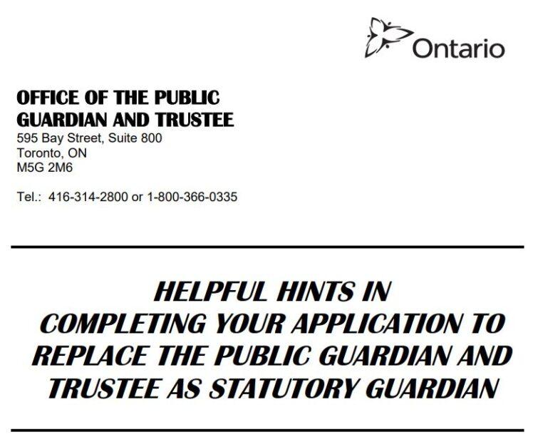 Replacing PGT as Guardian of Property